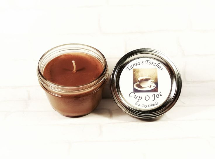 Coffee Candle Coffee Decor-  Hand Poured Soy Candle - Coffee Fragrance - Natural Candles by Tania's Torches - #coffeelover #coffee #candle by TaniasTorches on Etsy