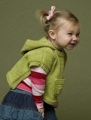 Image of Hooded Baby Poncho. Free pattern