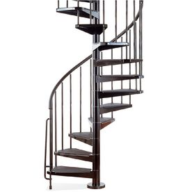 Best Arke 3 Ft 11 In Civik Black Spiral Staircase Kit Spiral 640 x 480