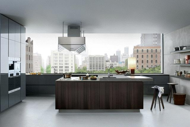 POLIFORM: Artex kitchen, work top in Fossena stone and Ipsilon stools