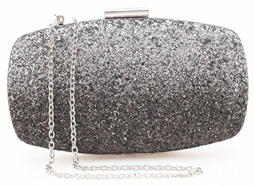 New Trending Cross Body Bags: Yuenjoy Womens Evening Bags Wedding Clutch Purse with Gradient Colors Glitter (Black / Silver). Yuenjoy Womens Evening Bags Wedding Clutch Purse with Gradient Colors Glitter (Black / Silver)   Special Offer: $24.99      233 Reviews NEW ARRIVAL WITH PROMOTION PRICE! This box clutch stuns with bling gradient colors glitter material add shine to any evening look. So versatile clutch...