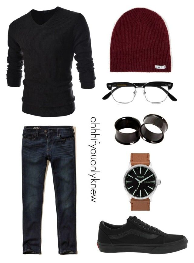 """""""Untitled #241"""" by ohhhifyouonlyknew on Polyvore featuring TheLees, Hollister Co., Cutler and Gross, Hot Topic, Neff and Vans"""