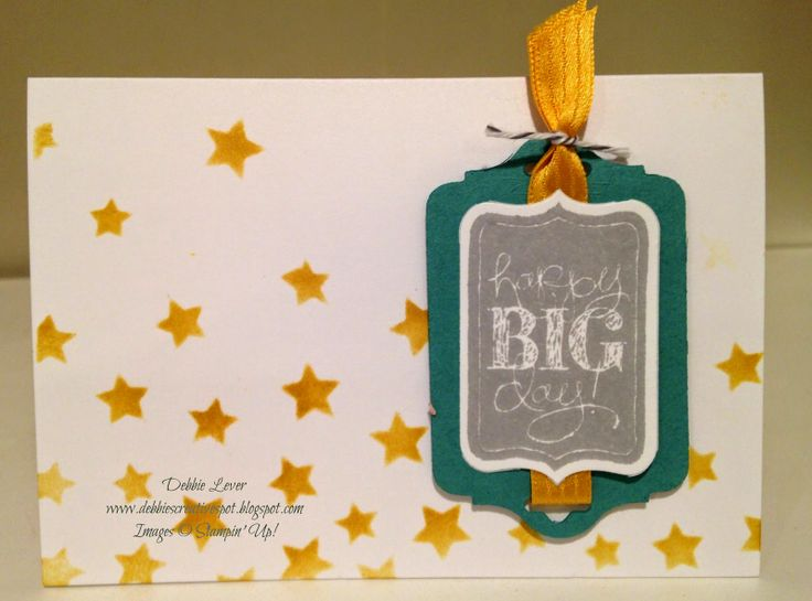Debbie's Creative Spot: Decorative Masks by Stampin' Up!