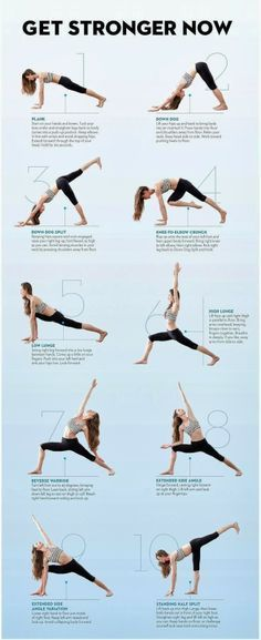 HOW TO GET STRONGER These yoga poses will help you get in shape and get stronger. Yoga's really easy and relaxing, try it! #Health #Fitness #workout #motivation