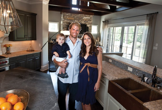 Putting down Carolina roots: Greg Olsen of the Carolina Panthers and his wife, Kara, now call Weddington home. Photo by John W. Adkisson | CharlotteObserver.com