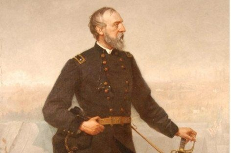 A painting of General George Meade by Bucks County painter Thomas Hicks 1876 from the collection of the Philadelphia War Museum. The roots of the museum go back to the end of the Civil War, when Union officers formed the Military Order of the Loyal Legion of the United States (MOLLUS). In 1888 they founded a museum in Philadelphia, and over the years, Union officers and their descendants donated a rich array of artifacts, including plaster casts of Lincoln's hands and face, battle photos,...