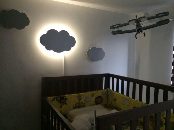 17 mejores im genes sobre habitaci n y decoraci n beb s en - Iluminacion habitacion bebe ...