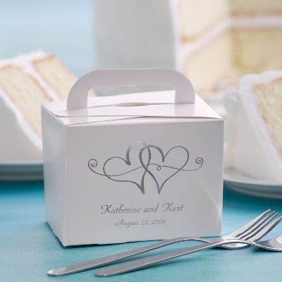 Wedding Cake Boxes for Guests   Take-Home Wedding Cake Box