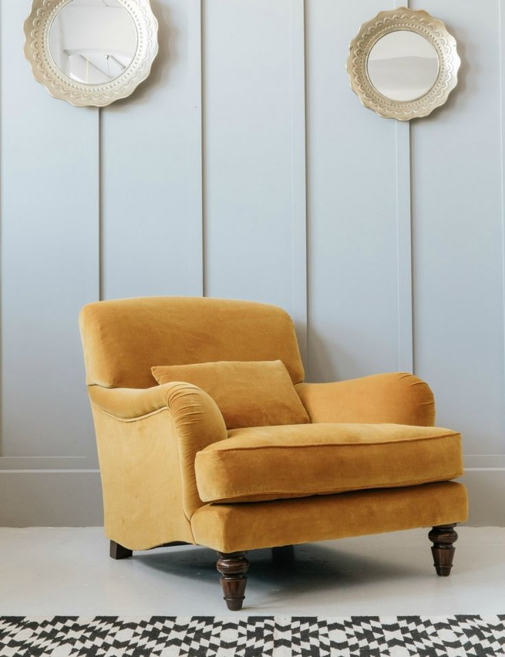 Mustard Velvet Armchair at Rose & Grey