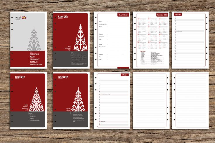 "Planner with ""Pucuk Rebung""  Cover, Devider, Personal Data, Calendar, and notes  #planner #agenda #graphicdesign #notes"
