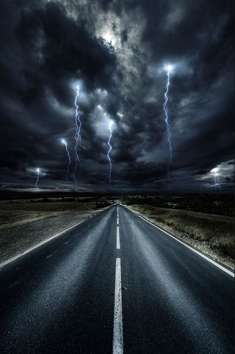 This weather inspires me because it is amazing how lightning looks in the #sky…