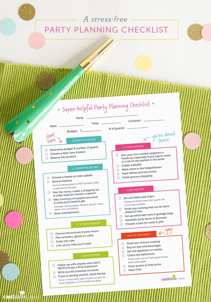 Download and print a super-helpful party planning checklist | #partyplanning #freeprintable
