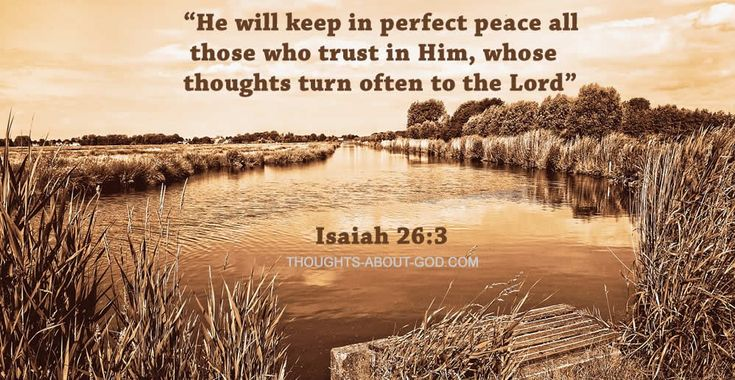 Perfect Peace | Devotional from Thoughts about God.  God is waiting to pour out His supernatural peace upon all who will trust and obey Him.