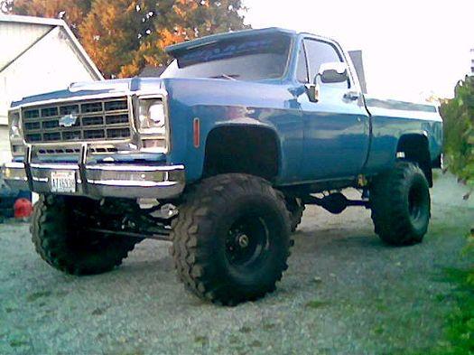 lifted Chevrolet Silverado truck
