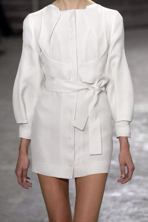 White Dress // Tied Waist