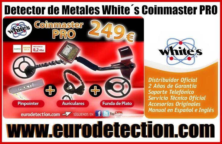 ¡¡Detector de Metales White´s Coinmaster PRO disponible en http://www.eurodetection.com/166-detector-de-metales-whites…!! #Eurodetection #DetectorMetal #Hobby #MetalDetecting #DetectoresdeMetales #Coinmaster #Whites