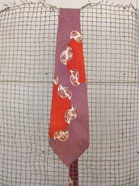 70s Purple Psychedelic Tie by Toubin Bros in Texas // Vintage Necktie