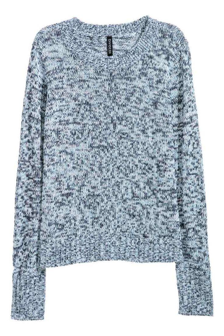 Knitted jumper - Blue marl - Ladies   H&M IE