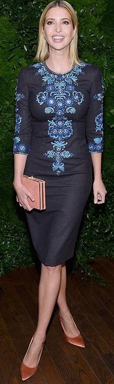 Who made Ivanka Trump's blue print dress?