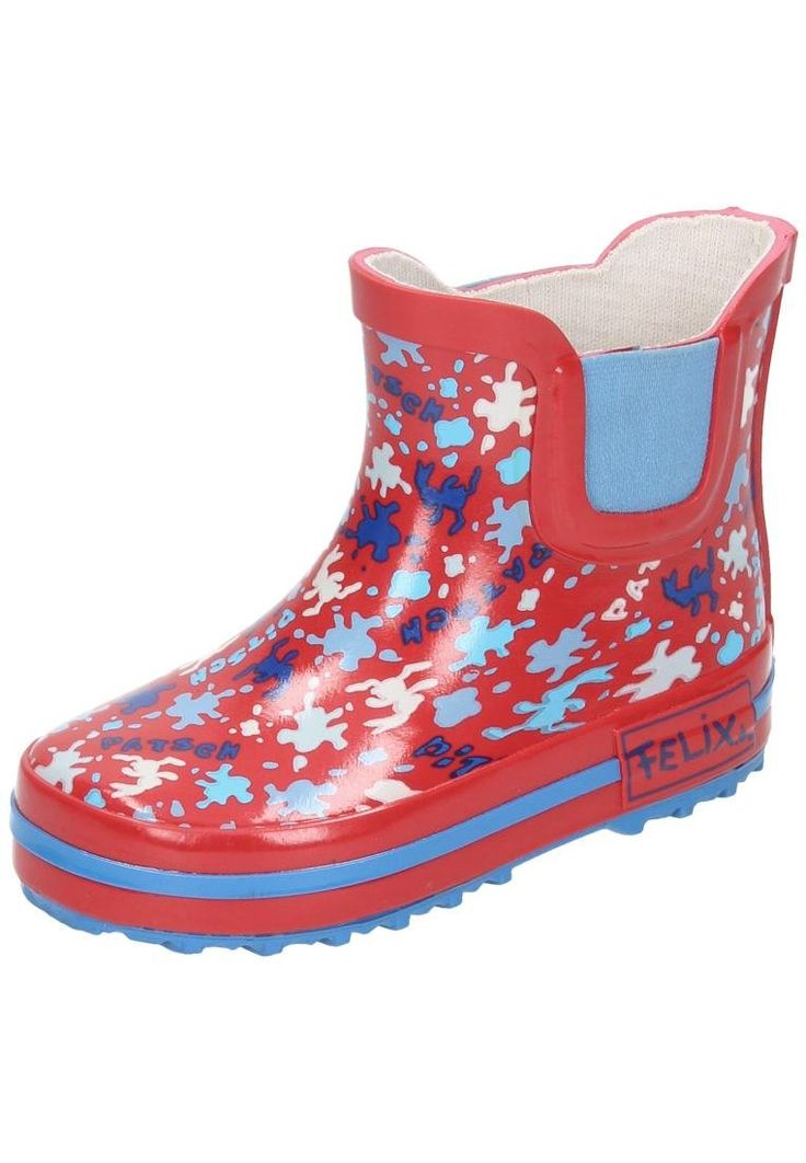 Felix, der Hase girls rain boots Red size 30 M EU. outer material: rubber. inner material: jersey lining. closure type: slip in.