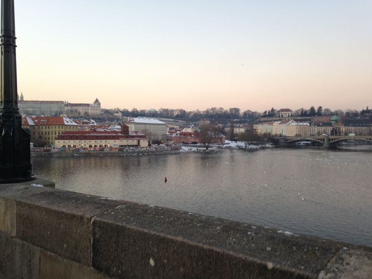 Since the Charles Bridge is right near FAMU, we went and crossed it by the second day. One of my favorite times to view Prague is sunset in late January/early February--the lighting was beautiful!