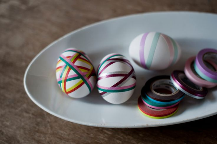 washi tape eggs  #washitape #easter