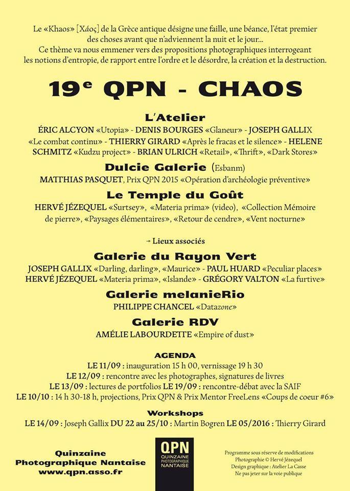 Programme QPN 2015 #QPN #festival #QuinzainePhotographiqueNantaise #contemporaryphotography #photographiecontemporaine #Nantes