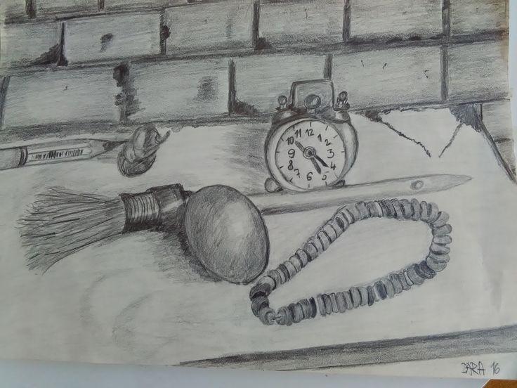 zátišie s vajíčkom - kresba ceruzkou
