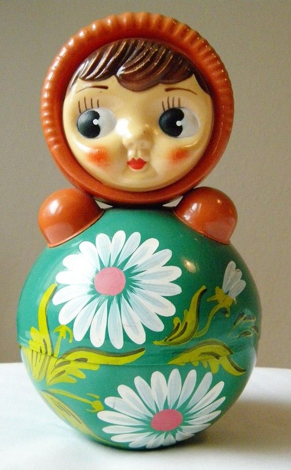 vintage doll roly poly tilting bell nevalyashka by thehopetree