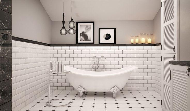 Elegancka łazienka na poddaszu
