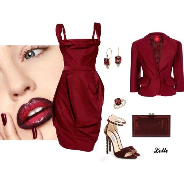 """""""Bordeaux tulip dress"""" by lellelelle on Polyvore"""