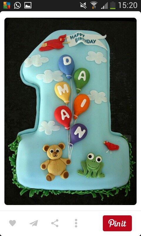 Pin Von Britta Auf Geburtstagstorte 1 Geburtstag Birthday Cake