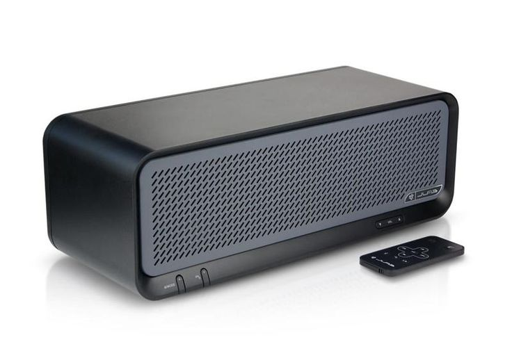 JLab Bouncer Premium Home Bluetooth Speaker (Black). Two Super Drivers U0026  Dual Rear Bass Ports. Full Size Powered USB Port To Charge Mobile Devices.