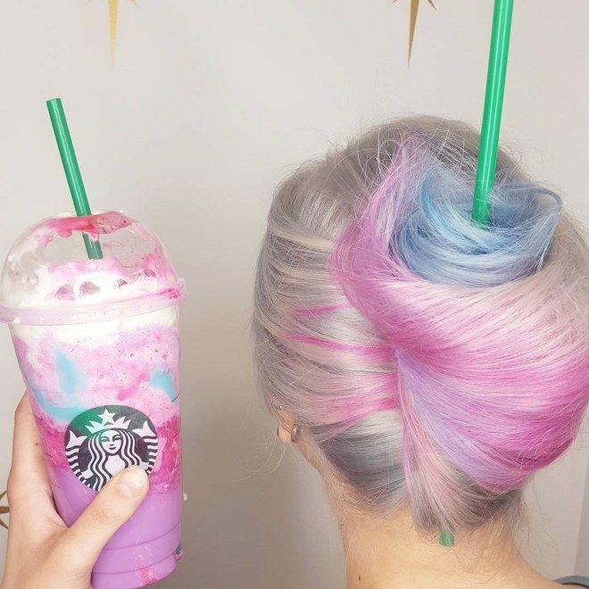WTF : les tendances beauté les plus bizarres : la teinture frppuccino licorne, on acquisce ?