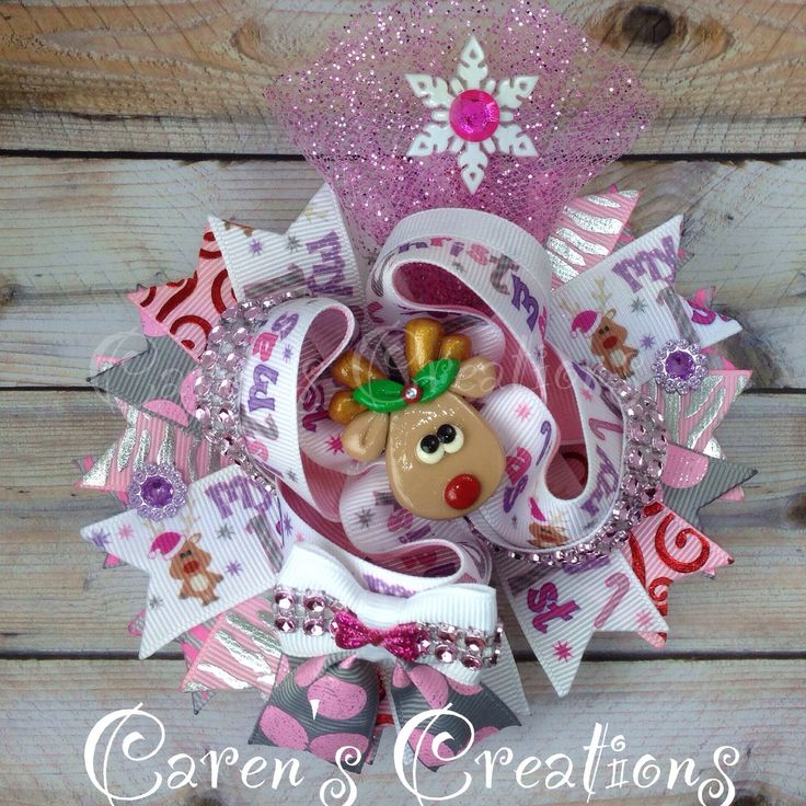 My 1st Christmas, Baby's First Christmas, hairbow, stacked boutique bow, for sale, over the top bow