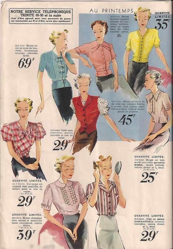 spring fashion c. 1938