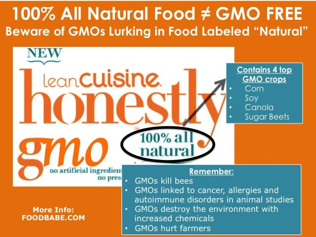 100% All Natural Products Can Be Chock Full Of GMOs on http://foodbabe.com
