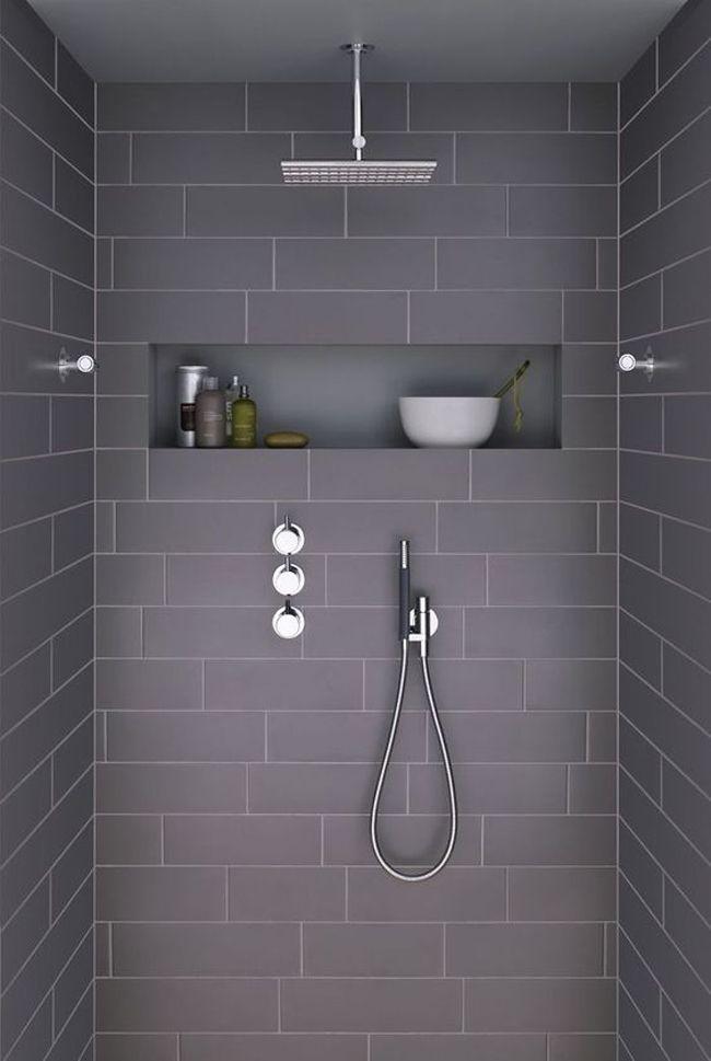Niches murales 10 id es pour votre salle de bain salle - Idees salle de bain douche italienne ...