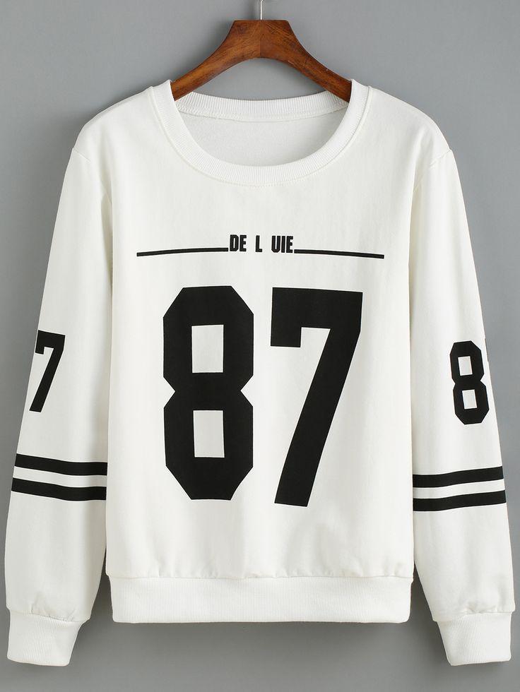 Round+Neck+Number+Print+Striped+Sweatshirt+11.99