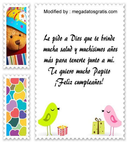 saludos de cumpleaños para mi Papà,frases de cumpleaños para mi Papà: http://www.megadatosgratis.com/carta-de-cumpleanos-para-papa/