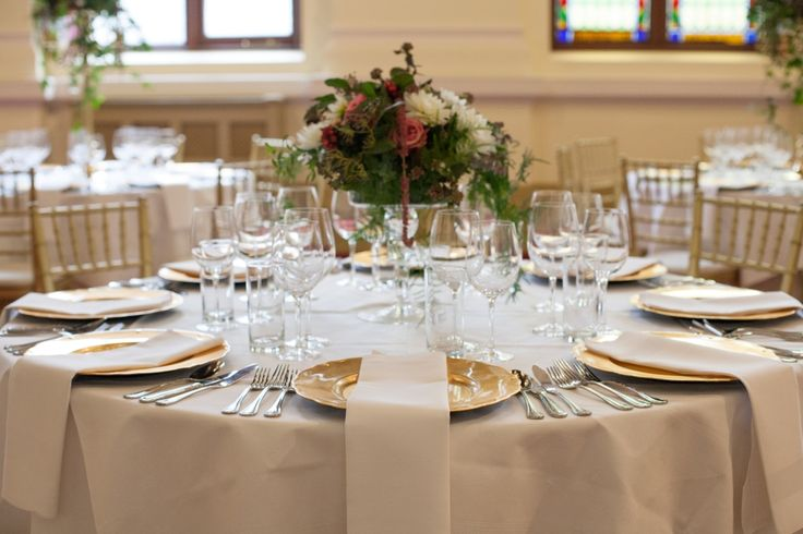 Short table centre flower arrangements at Royal College of Physicians Dublin