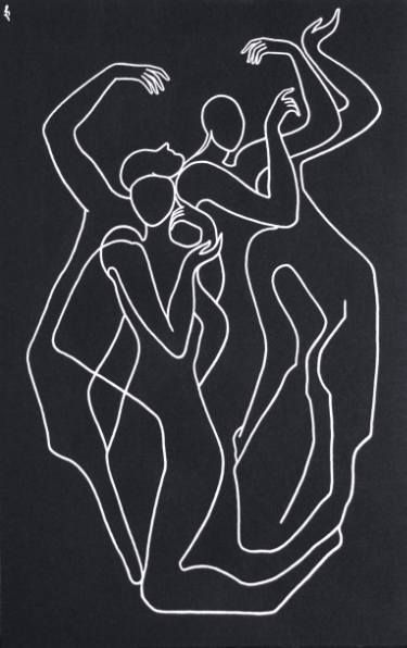 "Saatchi Art Artist Lia Chechelashvili; Painting, ""Pantomime"" (sold) #art"