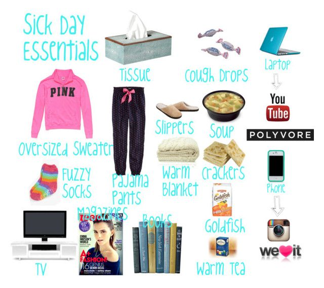 """Sick Day Essentials"" by waterrmelin ❤ liked on Polyvore featuring OKA, Victoria's Secret PINK, American Eagle Outfitters, Hello Kitty, Isotoner, sOUP, Speck, Tory Burch, Emma Watson and Junk Food Clothing"