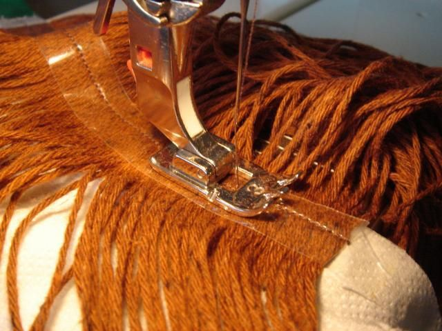 Part 1:how to sew girlshair: pigtails I want to show you how I make doll's hair out of knitting yarn. First you need to draw a line on your doll's head, starting from her forehead al…