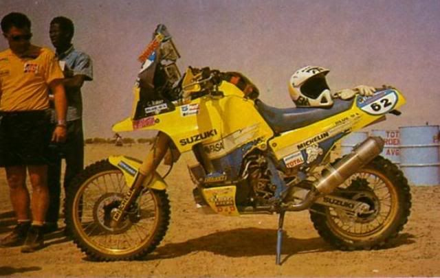 Yamaha Paris Dakar Rally | Suzuki 1991: Gaston Rahier's Bike