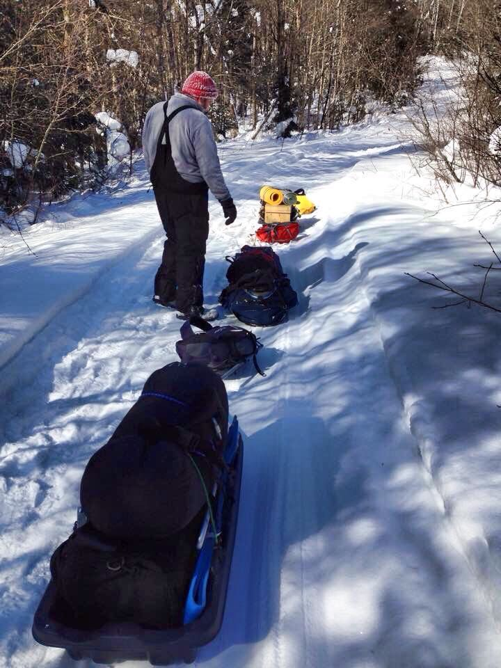 Winter Camping in Algonquin.