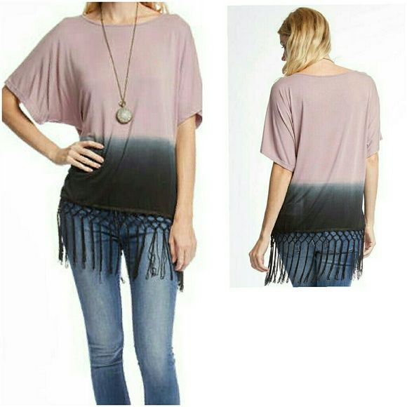 ❤THE DAKOTA FRINGED TOP❤ NEW DIP DYE TOP WITH FRINGED BOTTOM. ℹAVAILABLE IN S,M,L ℹ70% COTTON,30% RAYON ℹCOMMENT SIZE & I WILL MAKE YOU A SEPARATE LISTING ℹPRICE IS FINAL 4 Bidden Boutique Tops Tees - Short Sleeve