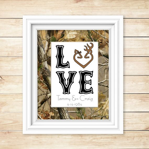Camo Wedding Gift - Camo Shower Gift - Camo Decor - Personalized Camo - Camo Home Decor - Realtree Wedding - Realtree Decor - Hunting Decor