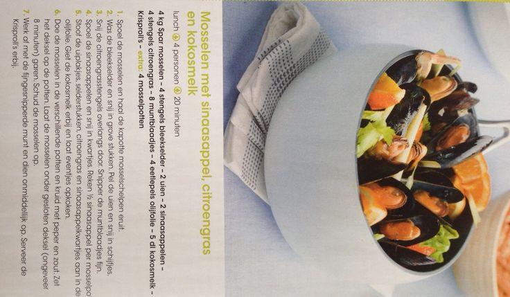 echt overheerlijk & simpel! mosselen met sinaasappel, citroengras & kokosmelk (recept uit Spar magazine)