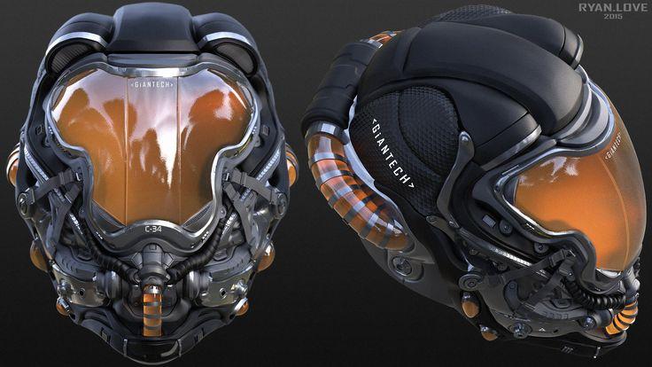 ArtStation - Helmet Concept #2, Ryan Love